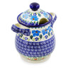 8-inch Stoneware Jar with Lid and Handles - Polmedia Polish Pottery H0512K