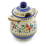 8-inch Stoneware Jar with Lid and Handles - Polmedia Polish Pottery H3150J