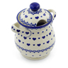 8-inch Stoneware Jar with Lid and Handles - Polmedia Polish Pottery H4045J