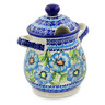 8-inch Stoneware Jar with Lid and Handles - Polmedia Polish Pottery H4090K