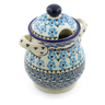 8-inch Stoneware Jar with Lid and Handles - Polmedia Polish Pottery H4197J