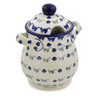 8-inch Stoneware Jar with Lid and Handles - Polmedia Polish Pottery H4271J