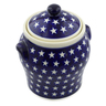 8-inch Stoneware Jar with Lid and Handles - Polmedia Polish Pottery H4448J