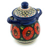 8-inch Stoneware Jar with Lid and Handles - Polmedia Polish Pottery H5387I