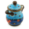 8-inch Stoneware Jar with Lid and Handles - Polmedia Polish Pottery H5389I