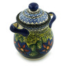 8-inch Stoneware Jar with Lid and Handles - Polmedia Polish Pottery H6185I
