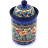 8-inch Stoneware Jar with Lid - Polmedia Polish Pottery H0130G