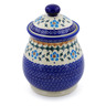 8-inch Stoneware Jar with Lid - Polmedia Polish Pottery H0448K