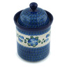 8-inch Stoneware Jar with Lid - Polmedia Polish Pottery H1332B