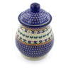 8-inch Stoneware Jar with Lid - Polmedia Polish Pottery H4121J