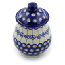8-inch Stoneware Jar with Lid - Polmedia Polish Pottery H4127J