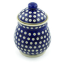 8-inch Stoneware Jar with Lid - Polmedia Polish Pottery H4237J