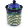 8-inch Stoneware Jar with Lid - Polmedia Polish Pottery H5592E