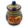 8-inch Stoneware Jar with Lid - Polmedia Polish Pottery H6180I