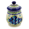 8-inch Stoneware Jar with Lid - Polmedia Polish Pottery H6533J