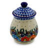 8-inch Stoneware Jar with Lid - Polmedia Polish Pottery H6537J