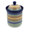 8-inch Stoneware Jar with Lid - Polmedia Polish Pottery H6939B