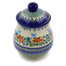 8-inch Stoneware Jar with Lid - Polmedia Polish Pottery H7014I