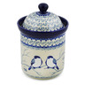 8-inch Stoneware Jar with Lid - Polmedia Polish Pottery H8245J