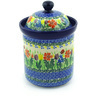 8-inch Stoneware Jar with Lid - Polmedia Polish Pottery H9739E