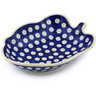8-inch Stoneware Leaf Shaped Bowl - Polmedia Polish Pottery H0483H