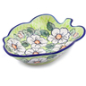 8-inch Stoneware Leaf Shaped Bowl - Polmedia Polish Pottery H2299J