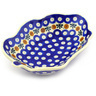 8-inch Stoneware Leaf Shaped Bowl - Polmedia Polish Pottery H6108F