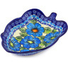 8-inch Stoneware Leaf Shaped Bowl - Polmedia Polish Pottery H6109F