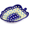 8-inch Stoneware Leaf Shaped Bowl - Polmedia Polish Pottery H9045F