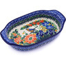 8-inch Stoneware Oval Baker with Handles - Polmedia Polish Pottery H0434G
