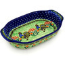 8-inch Stoneware Oval Baker with Handles - Polmedia Polish Pottery H5262D