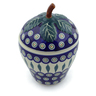 8-inch Stoneware Plum Shaped Jar - Polmedia Polish Pottery H6062J