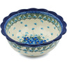 8-inch Stoneware Scalloped Bowl - Polmedia Polish Pottery H0731I