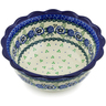 8-inch Stoneware Scalloped Bowl - Polmedia Polish Pottery H1760K