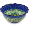 8-inch Stoneware Scalloped Bowl - Polmedia Polish Pottery H3882F