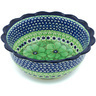 8-inch Stoneware Scalloped Bowl - Polmedia Polish Pottery H4676H