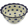 8-inch Stoneware Scalloped Bowl - Polmedia Polish Pottery H7870B