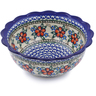 8-inch Stoneware Scalloped Bowl - Polmedia Polish Pottery H8513B