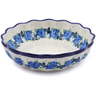8-inch Stoneware Scalloped Fluted Bowl - Polmedia Polish Pottery H1080J