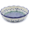 8-inch Stoneware Scalloped Fluted Bowl - Polmedia Polish Pottery H1105J