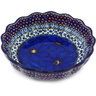 8-inch Stoneware Scalloped Fluted Bowl - Polmedia Polish Pottery H3526G