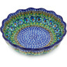 8-inch Stoneware Scalloped Fluted Bowl - Polmedia Polish Pottery H5610G