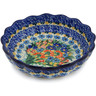 8-inch Stoneware Scalloped Fluted Bowl - Polmedia Polish Pottery H8464J