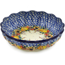 8-inch Stoneware Scalloped Fluted Bowl - Polmedia Polish Pottery H8465J