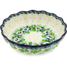 8-inch Stoneware Scalloped Fluted Bowl - Polmedia Polish Pottery H8467J
