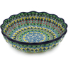 8-inch Stoneware Scalloped Fluted Bowl - Polmedia Polish Pottery H8469J