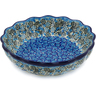 8-inch Stoneware Scalloped Fluted Bowl - Polmedia Polish Pottery H8471J