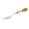 8-inch Stoneware Stainless Steel Fork - Polmedia Polish Pottery H7834F