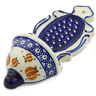 8-inch Stoneware Wall Pocket - Polmedia Polish Pottery H4385J