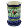 8-inch Stoneware Wine Chill with Saucer - Polmedia Polish Pottery H3598K